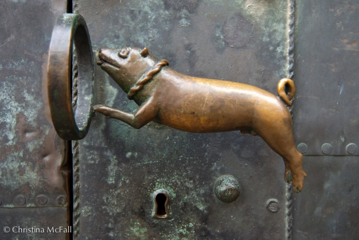 door handle in Quedlinburg, Germany