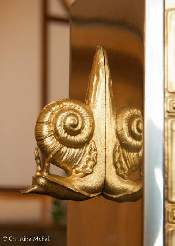 art nouveau snail in Prague, Czech Republic