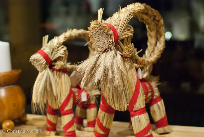 traditional scandinavian straw yule goat