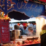 hot drinks stall at german christmas market