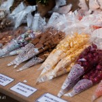 candy and bonbons for sale at german christmas market