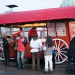 food wagon at german christmas market in Berlin