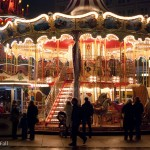 carousel at Alexanderplatz christmas market in berlin