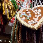 gingerbread hearts or lebkuchen herzen in Berlin