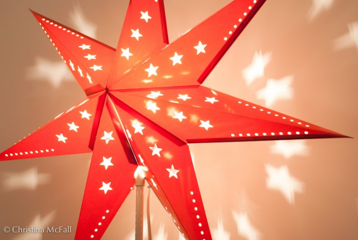 german paper star lantern light