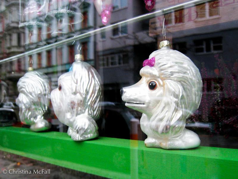 bouffant poodle christmas ornament in Kreuzberg Berlin