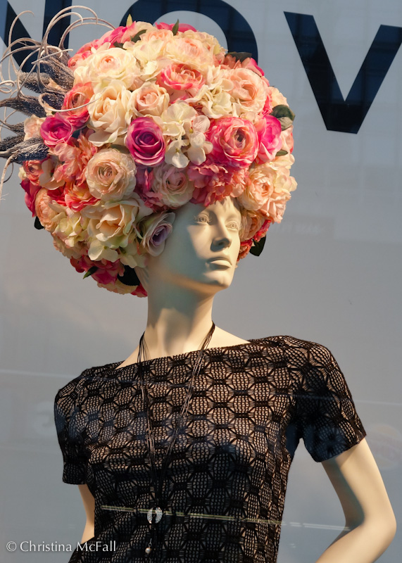 giant rose afro mannequin in berlin germany