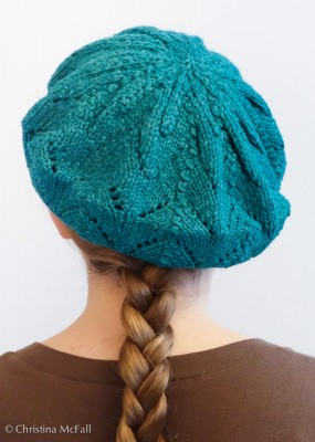 finished Meret beret hat